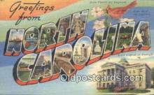 LLT200031 - North Carolina, USA Large Letter Town Postcard Post Card Old Vintage Antique