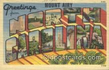 LLT200036 - Mount Airy, NC, USA Large Letter Town Postcard Post Card Old Vintage Antique