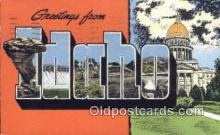 LLT200041 - Idaho, USA Large Letter Town Postcard Post Card Old Vintage Antique