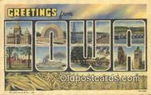 LLT200042 - Iowa, USA Large Letter Town Postcard Post Card Old Vintage Antique