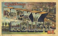 LLT200053 - Rocky Mount, NC, USA Large Letter Town Postcard Post Card Old Vintage Antique