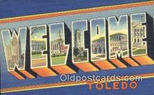 LLT200060 - Toldeo, OH, USA Large Letter Town Postcard Post Card Old Vintage Antique