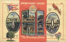 LLT200061 - Ohio, OH, USA Large Letter Town Postcard Post Card Old Vintage Antique