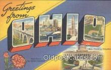LLT200062 - Ohio, OH, USA Large Letter Town Postcard Post Card Old Vintage Antique