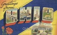 LLT200063 - Ohio, OH, USA Large Letter Town Postcard Post Card Old Vintage Antique