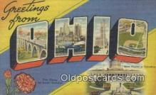 LLT200064 - Ohio, OH, USA Large Letter Town Postcard Post Card Old Vintage Antique