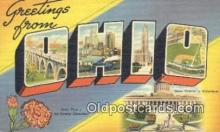 LLT200066 - Ohio, OH, USA Large Letter Town Postcard Post Card Old Vintage Antique