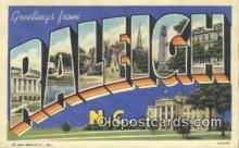 LLT200069 - Raleigh, North Carolina, USA Large Letter Town Postcard Post Card Old Vintage Antique