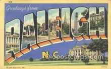 LLT200070 - Raleigh, North Carolina, USA Large Letter Town Postcard Post Card Old Vintage Antique
