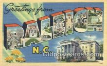 LLT200071 - Raleigh, North Carolina, USA Large Letter Town Postcard Post Card Old Vintage Antique