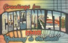 LLT200085 - Cincinnati, Ohio, USA Large Letter Town Postcard Post Card Old Vintage Antique