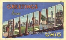 LLT200088 - Cleveland, Ohio, USA Large Letter Town Postcard Post Card Old Vintage Antique