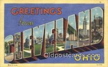 LLT200089 - Cleveland, Ohio, USA Large Letter Town Postcard Post Card Old Vintage Antique