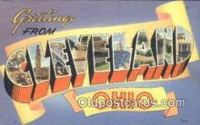 LLT200090 - Cleveland, Ohio, USA Large Letter Town Postcard Post Card Old Vintage Antique