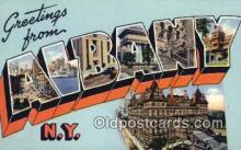 LLT200092 - Albany, NY, USA Large Letter Town Postcard Post Card Old Vintage Antique