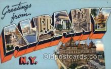 LLT200094 - Albany, NY, USA Large Letter Town Postcard Post Card Old Vintage Antique