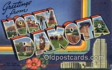 LLT200097 - Bismarck, North Dakota, USA Large Letter Town Postcard Post Card Old Vintage Antique