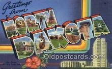 LLT200098 - Bismarck, North Dakota, USA Large Letter Town Postcard Post Card Old Vintage Antique