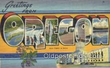 LLT200100 - Salem, Oregon, USA Large Letter Town Postcard Post Card Old Vintage Antique