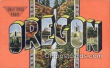 LLT200101 - Oregon, USA Large Letter Town Postcard Post Card Old Vintage Antique