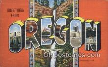 LLT200102 - Oregon, USA Large Letter Town Postcard Post Card Old Vintage Antique