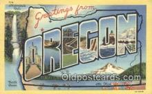 LLT200103 - Oregon, USA Large Letter Town Postcard Post Card Old Vintage Antique