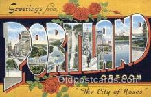 LLT200108 - Portland, Oregon, USA Large Letter Town Postcard Post Card Old Vintage Antique