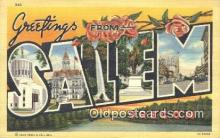 LLT200112 - Salem, Oregon, USA Large Letter Town Postcard Post Card Old Vintage Antique