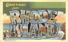 LLT200113 - Rhode Island, USA Large Letter Town Postcard Post Card Old Vintage Antique