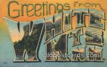 LLT200119 - White Mountains, New Hampshire, USA Large Letter Town Postcard Post Card Old Vintage Antique