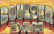 LLT200125 - Boulder Dam, NV, USA Large Letter Town Postcard Post Card Old Vintage Antique