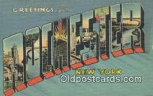 LLT200128 - Rochester, New York, USA Large Letter Town Postcard Post Card Old Vintage Antique