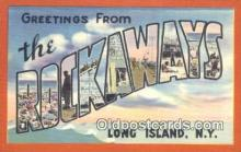 LLT200129 - Long Island, NY, USA Large Letter Town Postcard Post Card Old Vintage Antique