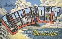 LLT200132 - Gulfport, Mississippi, USA Large Letter Town Postcard Post Card Old Vintage Antique
