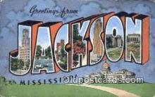 LLT200138 - Jackson, MS, USA Large Letter Town Postcard Post Card Old Vintage Antique