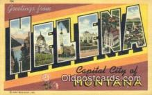 LLT200139 - Helena, Montana, USA Large Letter Town Postcard Post Card Old Vintage Antique