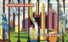 LLT200144 - Houston, Texas, USA Large Letter Town Postcard Post Card Old Vintage Antique