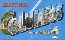LLT200155 - Columbus, Ohio, USA Large Letter Town Postcard Post Card Old Vintage Antique