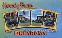 LLT200165 - Hugo, Oklahoma, USA Large Letter Town Postcard Post Card Old Vintage Antique