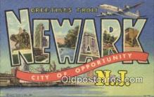 LLT200169 - Newark, NJ, USA Large Letter Town Postcard Post Card Old Vintage Antique