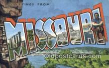 LLT200173 - Missouri, USA Large Letter Town Postcard Post Card Old Vintage Antique