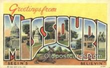 LLT200174 - Missouri, USA Large Letter Town Postcard Post Card Old Vintage Antique