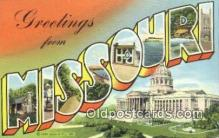 LLT200175 - Missouri, USA Large Letter Town Postcard Post Card Old Vintage Antique