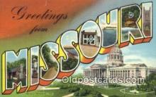 LLT200176 - Missouri, USA Large Letter Town Postcard Post Card Old Vintage Antique