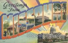 LLT200177 - Missouri, USA Large Letter Town Postcard Post Card Old Vintage Antique
