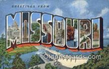 LLT200179 - Missouri, USA Large Letter Town Postcard Post Card Old Vintage Antique
