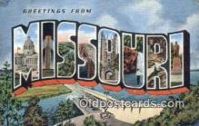 LLT200180 - Missouri, USA Large Letter Town Postcard Post Card Old Vintage Antique