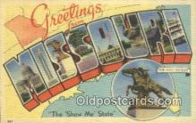 LLT200181 - Missouri, USA Large Letter Town Postcard Post Card Old Vintage Antique
