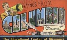 LLT200182 - Columbia, Missouri, USA Large Letter Town Postcard Post Card Old Vintage Antique