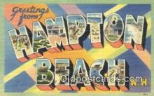 LLT200189 - Hampton Beach, NH, USA Large Letter Town Postcard Post Card Old Vintage Antique